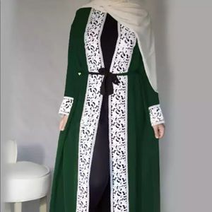 Sweaters - Dark green open abaya